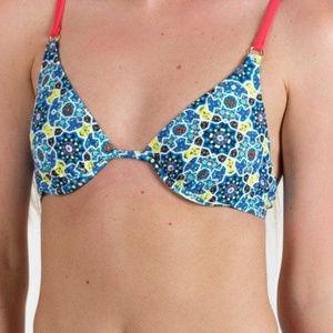 Mink Pink Gyspsianna bikini top only new w/ tags